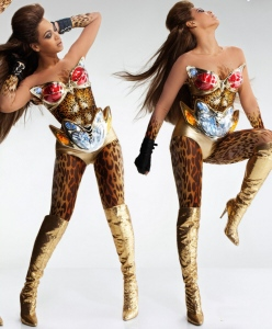 Beyonce as half- Wonder Woman, half-Vixen