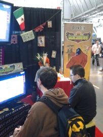 Playing Guacamelee at PAX East