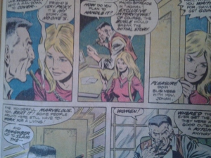 Carol Danvers, as editor of Woman magazine, deals with misogynist J. Jonah Jameson