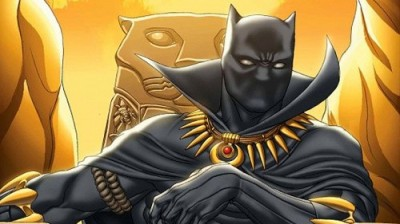 Black Panther on his throne