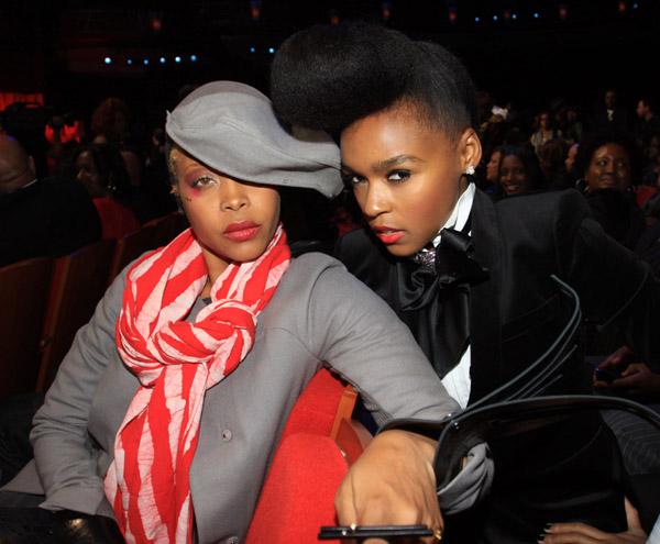 Janelle Monae & Erykah Badu at the 2010 Soul Train Awards