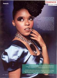 Monae in 2008 Essence magazine spread