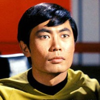 Hikaru Sulu (actor George Takei)