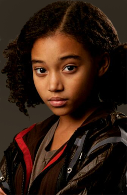 Amandla Stenberg as Rue in the film adaptation of The Hunger Games