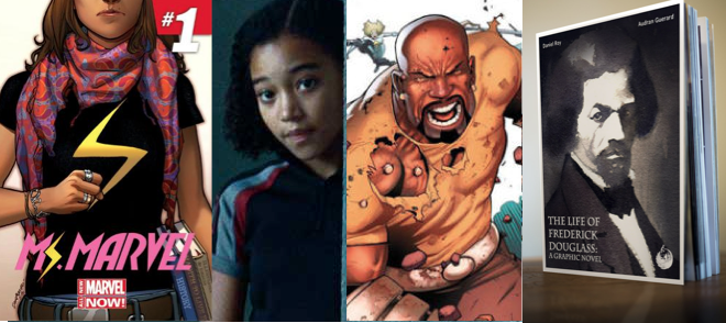 Geeky Week Round-Up: Rue Joins Sleepy Hollow, Luke Cage Gets a TV Show, & Frederick Douglass Gets the Comic Treatment