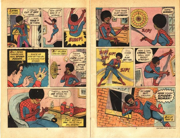 Spider Woman who happens to be black